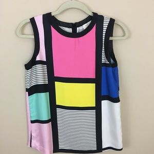 Kate Spade Pop of Color Carolina Mondrian Tank Top